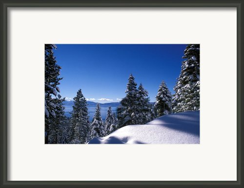 Lake Tahoe In Winter Framed Print By Kathy Yates