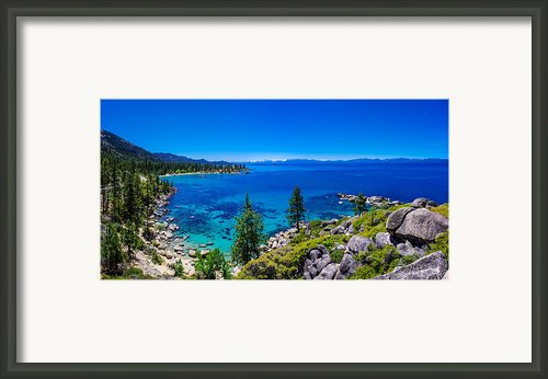 Lake Tahoe Summerscape Framed Print By Scott Mcguire
