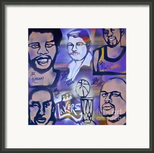 Lakers Love Jerry Buss 2 Framed Print By Tony B Conscious