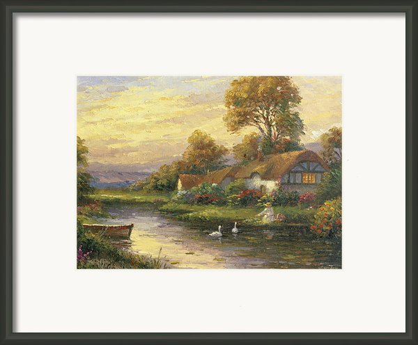 Lakeside Cottage Framed Print By Ghambaro