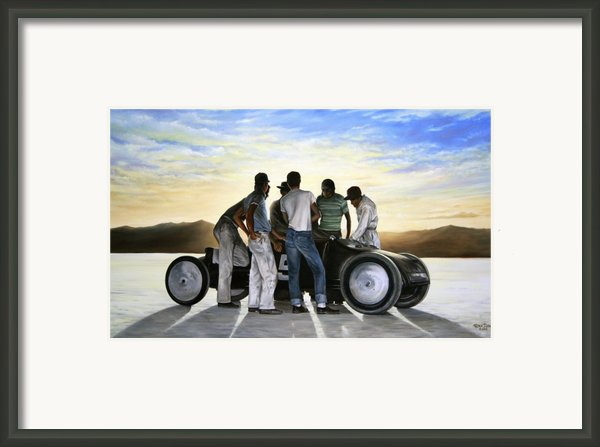 Lakester At Dawn Framed Print By Ruben Duran