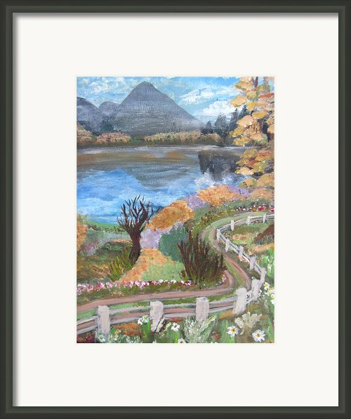 Lakeview Drive Framed Print By Mj Deen