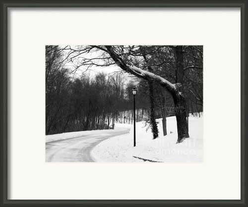 Lamp-light Lane Framed Print By Mel Steinhauer