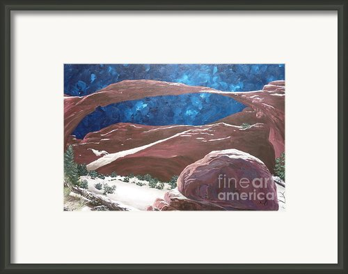 Landscape Arch At Night Framed Print By Estephy Sabin Figueroa