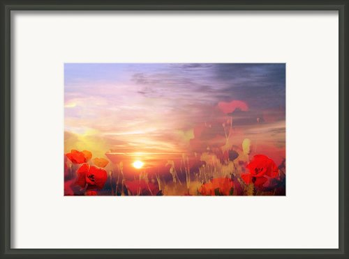 Landscape Of Dreaming Poppies Framed Print By Valerie Anne Kelly