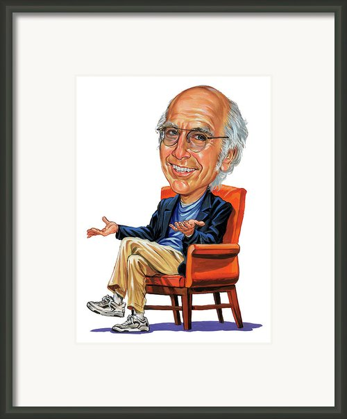 Larry David Framed Print By Art