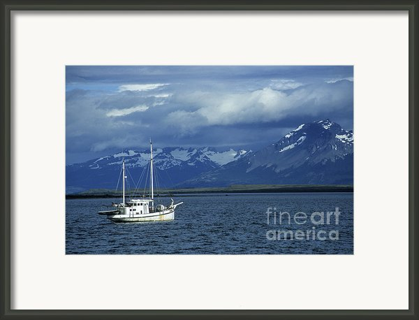 Last Hope Sound Patagonia  Framed Print By James Brunker
