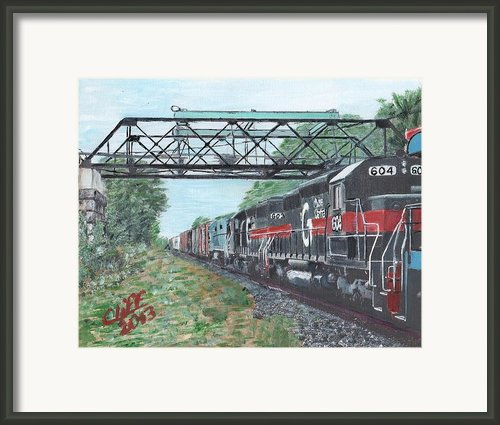 Last Train Under The Bridge Framed Print By Cliff Wilson