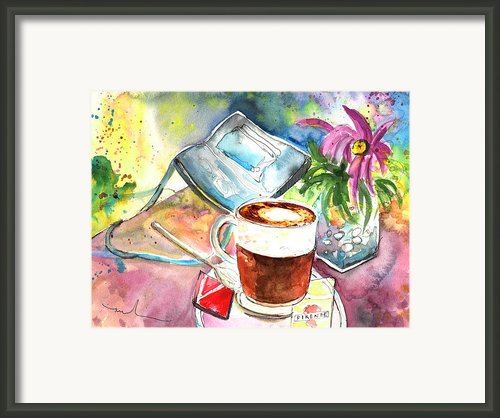 Latte Macchiato In Italy 01 Framed Print By Miki De Goodaboom