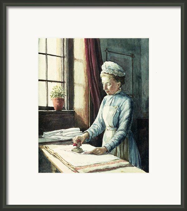 Laundry Maid Framed Print By English School