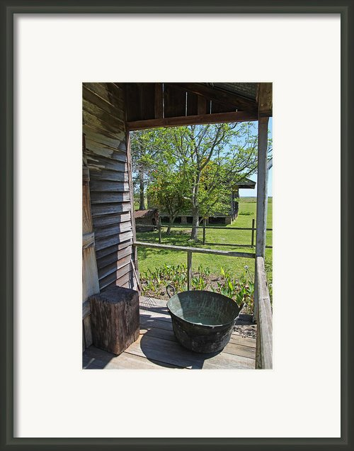 Laura Plantation Slaves Porch Framed Print By Joseph Semary