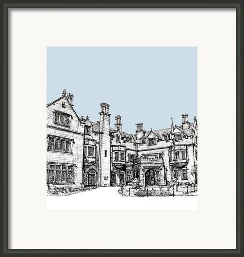 Laurel Hall In Light Blue Framed Print By Lee-ann Adendorff