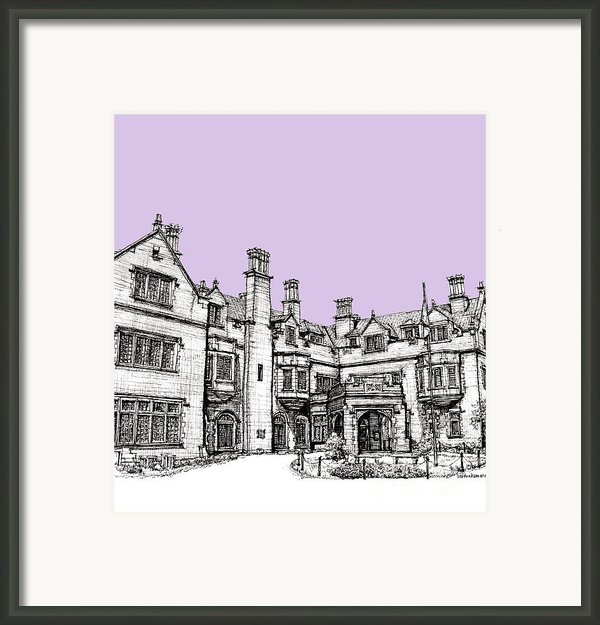 Laurel Hall In Lilac Framed Print By Lee-ann Adendorff