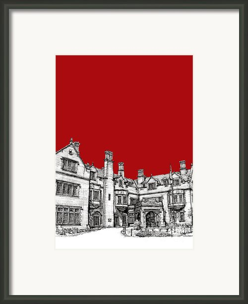 Laurel Hall In Red -portrait- Framed Print By Lee-ann Adendorff