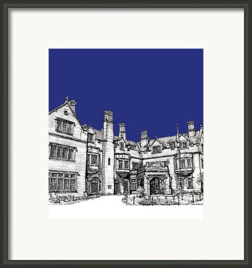 Laurel Hall In Royal Blue Framed Print By Lee-ann Adendorff