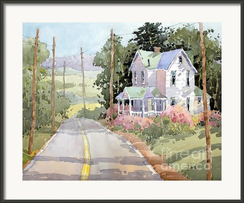 Laurel Mountain Highlands Farm By Joyce Hicks Framed Print By Joyce Hicks