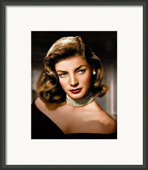 Lauren Bacall Framed Print By Allen Glass