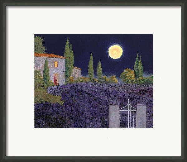 Lavanda Di Notte Framed Print By Guido Borelli