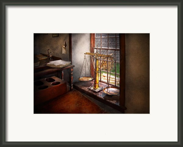 Lawyer - Scales Of Justice Framed Print By Mike Savad
