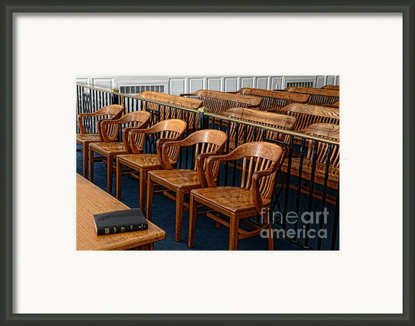 Lawyer - The Courtroom Framed Print By Paul Ward