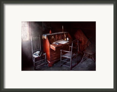 Lawyer - Writer - Where Law Began Framed Print By Mike Savad