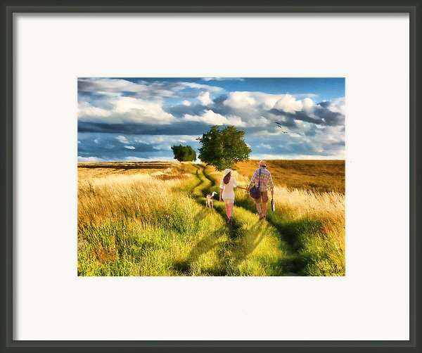 Lazy Summer Afternoon Framed Print By Tom Schmidt