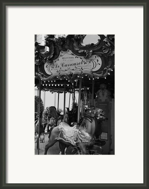 Le Carrousel Framed Print By David Rucker