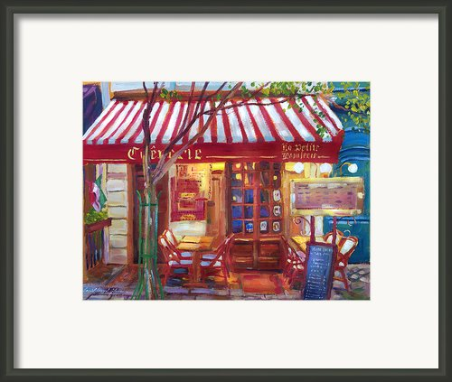 Le Petite Bistro Framed Print By  David Lloyd Glover
