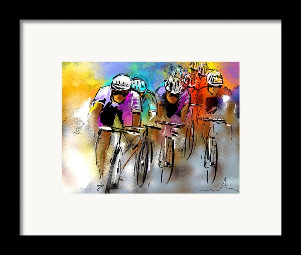 Le Tour De France 03 Framed Print By Miki De Goodaboom