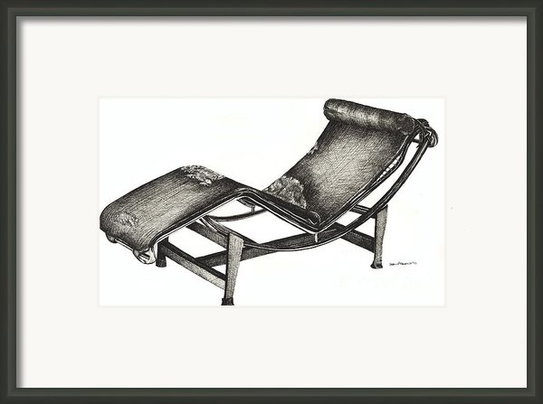 Leather Chaise Longue Framed Print By Lee-ann Adendorff