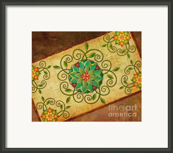 Leaves Rosette 1 Framed Print By Bedros Awak