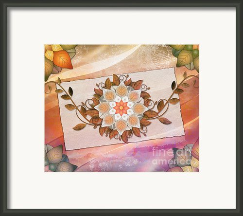 Leaves Rosette 2 Framed Print By Bedros Awak