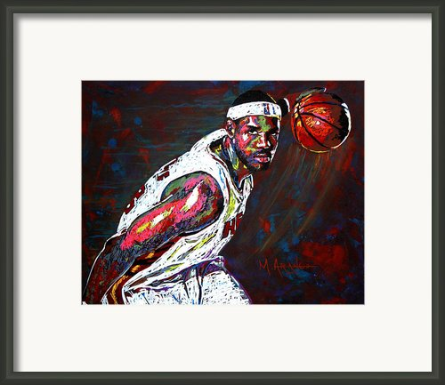 Lebron James 2 Framed Print By Maria Arango