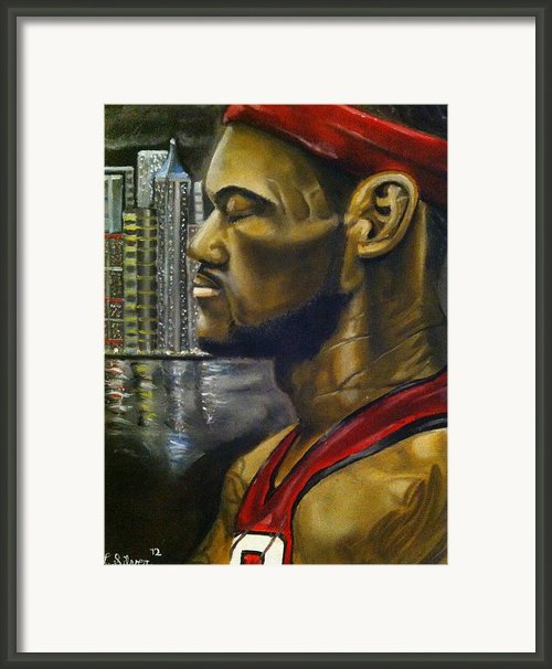 Lebron James Framed Print By Larry Silver