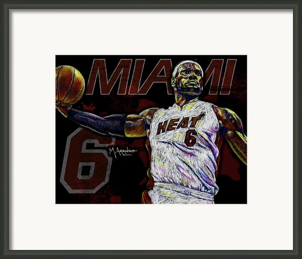 Lebron James Framed Print By Maria Arango