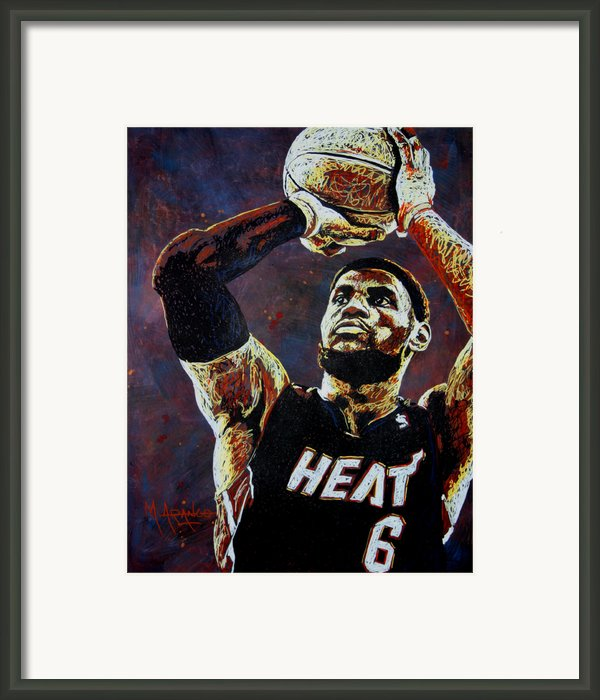 Lebron James Mvp Framed Print By Maria Arango