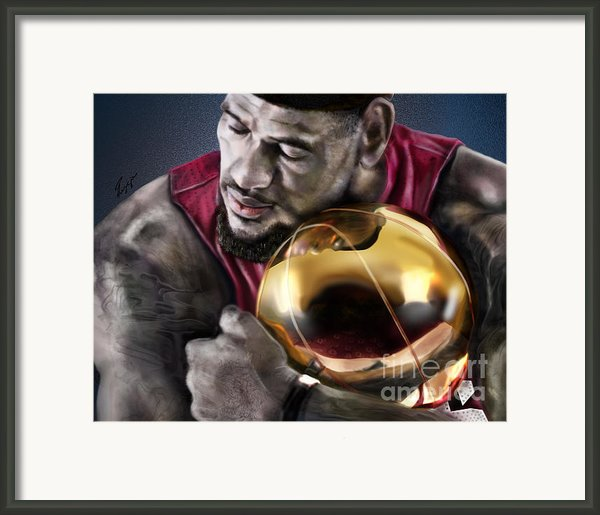 Lebron James - My Way Framed Print By Reggie Duffie