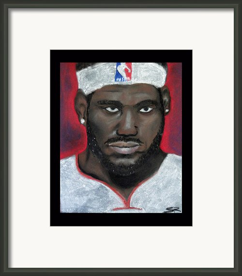 Lebron James Framed Print By Samantha Roberts
