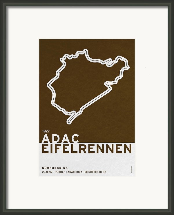 Legendary Races - 1927 Eifelrennen Framed Print By Chungkong Art