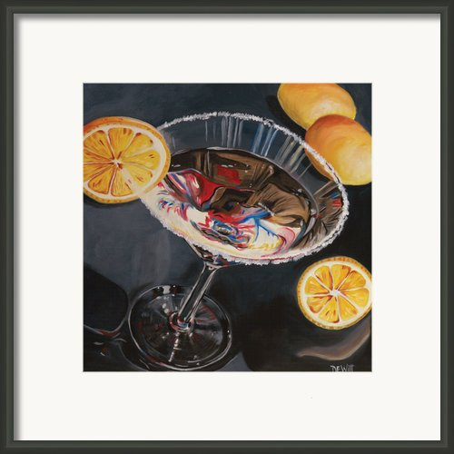 Lemon Drop Framed Print By Debbie Dewitt