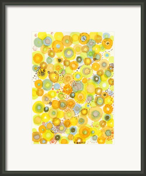 Lemon Fizz Framed Print By Regina Valluzzi