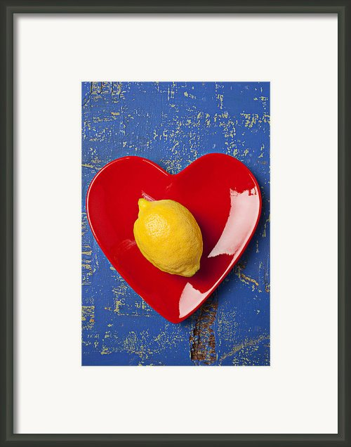Lemon Heart Framed Print By Garry Gay