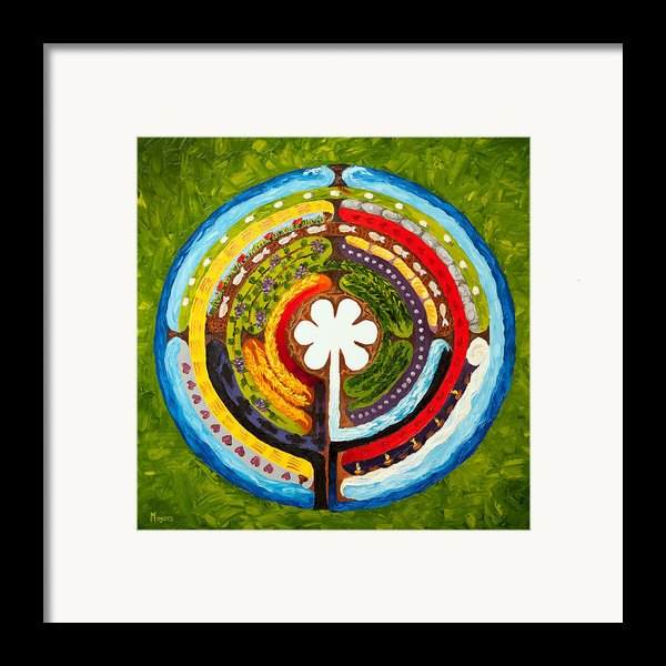 Lenten Labyrinth Framed Print By Mike Moyers