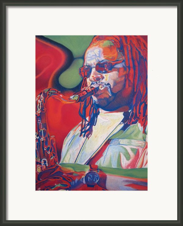 Leroi Moore Colorful Full Band Series Framed Print By Joshua Morton
