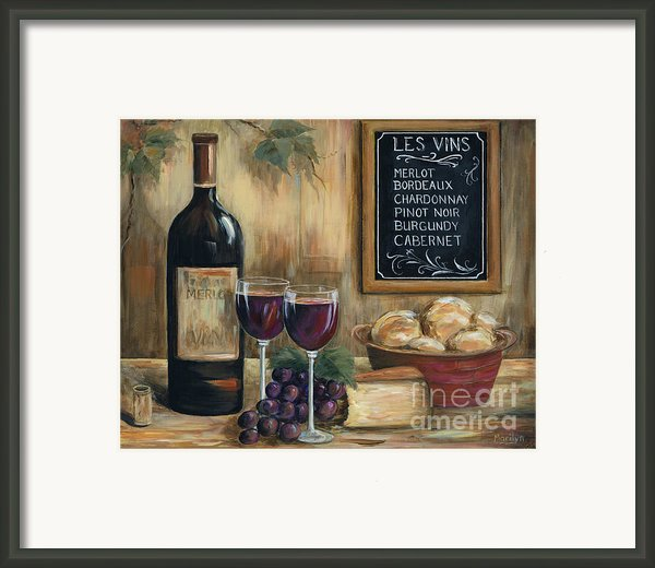 Les Vins Framed Print By Marilyn Dunlap