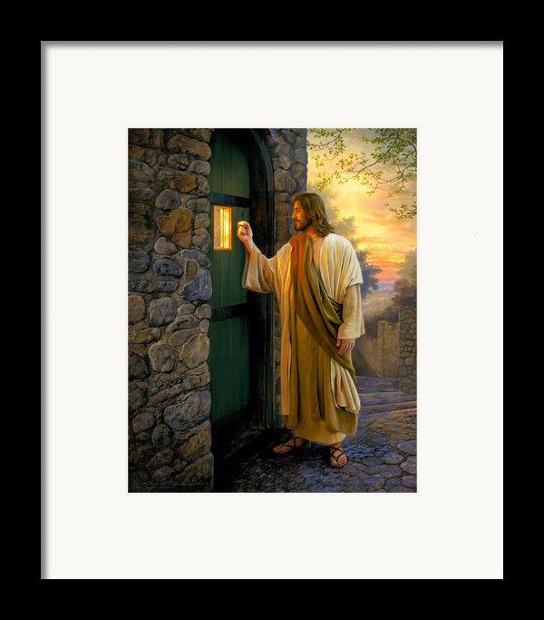 Let Him In Framed Print By Greg Olsen