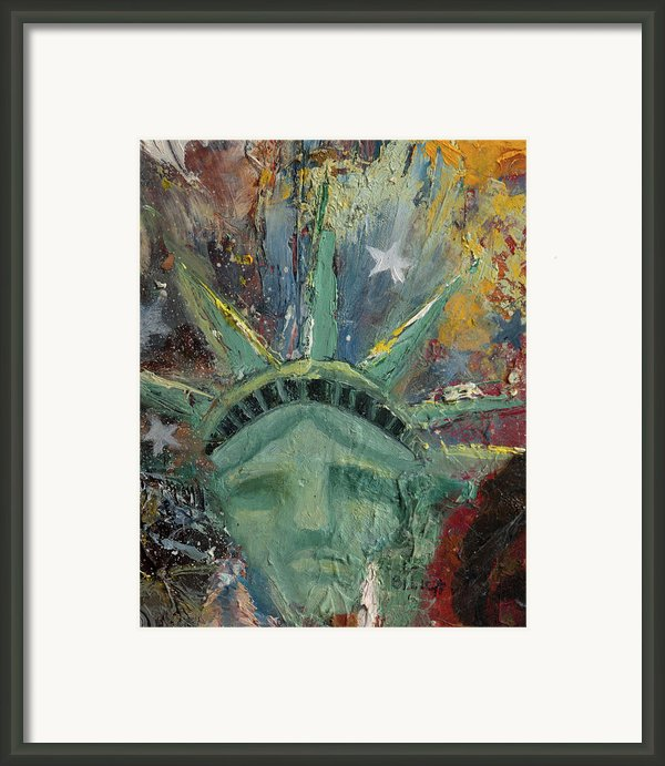 Liberty Breaking Out Framed Print By Trish Bilich