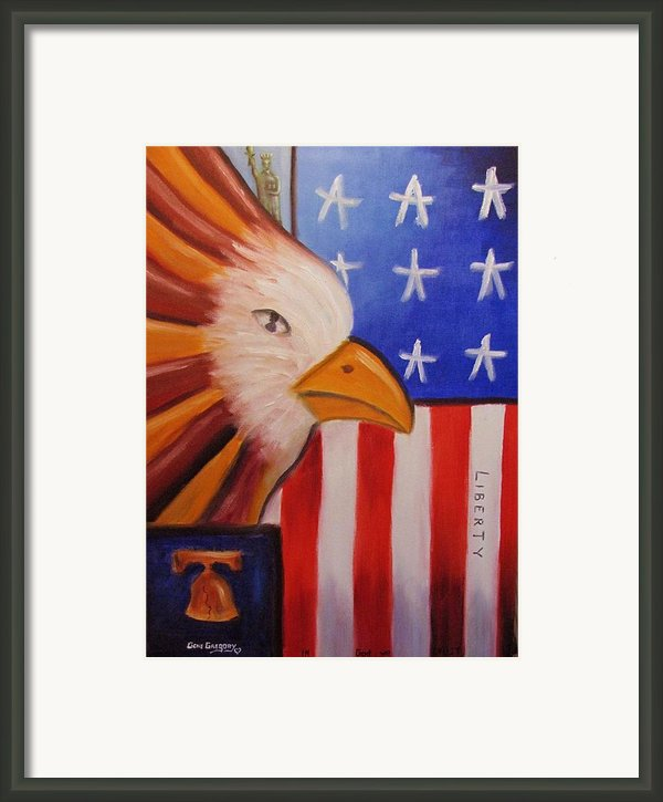 Liberty Framed Print By Gene Gregory