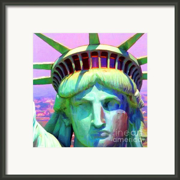 Liberty Head Painterly 20130618 Square Framed Print By Wingsdomain Art And Photography