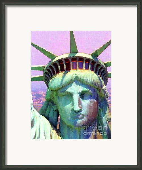 Liberty Head Painterly 20130618 Framed Print By Wingsdomain Art And Photography
